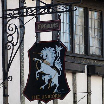 The Unicorn, Canterbury - pub sign