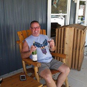 enjoying the winery.