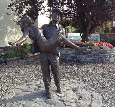 John Wayne & Maureen O'Hara in Cong County Mayo