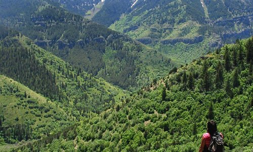 Hiking the Wind Caves along Logan Canyon National Scenic Byway