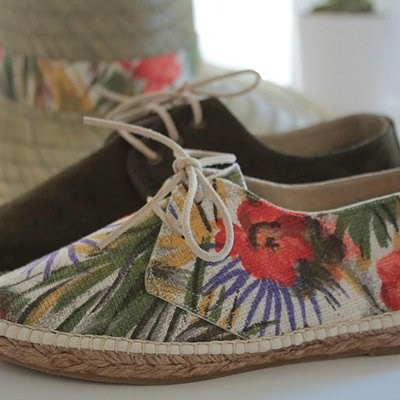 Hand made espadrilles by Jute