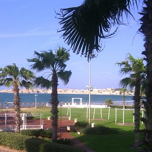 Acre's view from the Palm Beach hotel