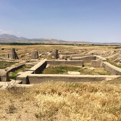 Ancient Hasanlu in ruins