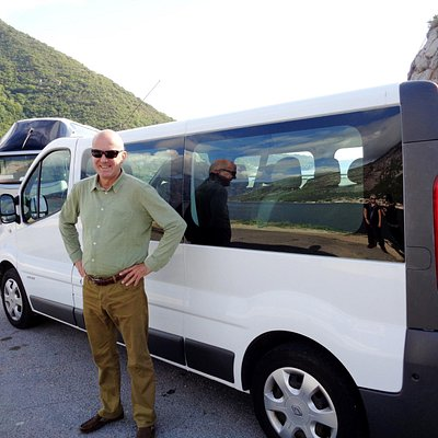 Our chauffeur, Bostjan and our van.