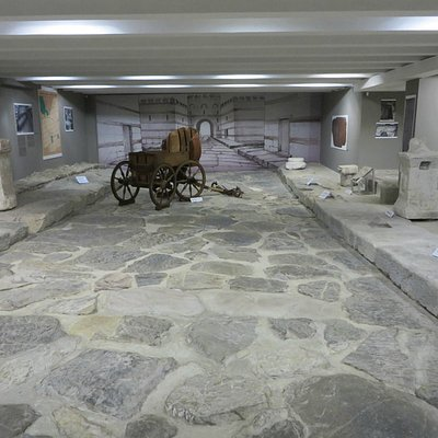 The Roman  road in the basement.