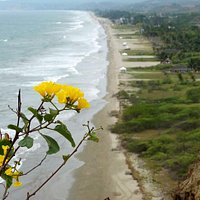 vista de la playa de Olón