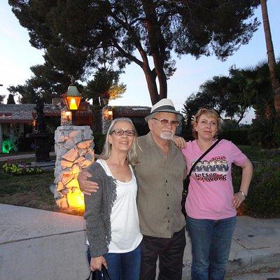 Avec Franck devant la maison de De Niro dans le film Casino