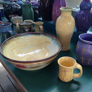 Pottery for sale in showroom
