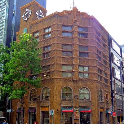 生駒時計店のレトロビル
