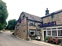 front of the pub