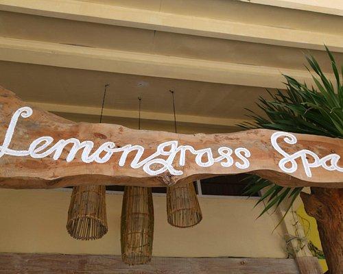 Lemongrass Spa entrance sign