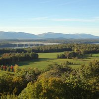 View of the Kingston-Rhinecliff bridge and Catskills from the fire tower
