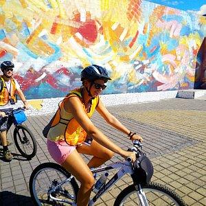 En bici por Santa Tecla