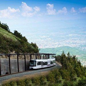 Le train à crémaillère du puy de Dôme