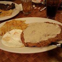 The Big Chicken Fried Steak Plate!!!