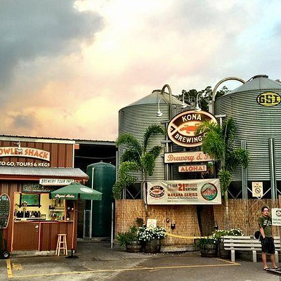 Kona Brew at sunset October 2015