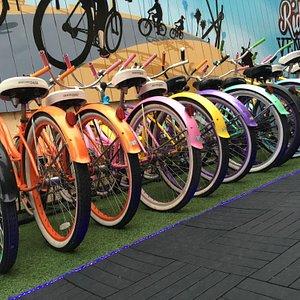 Colorful bikes