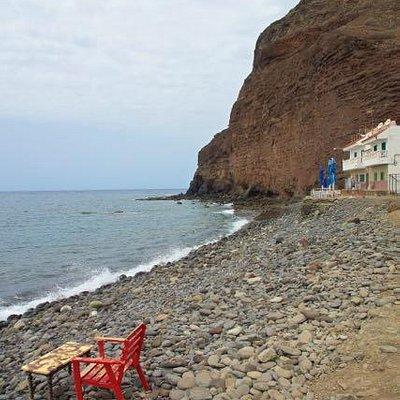 Malerischer Blick auf Playa de Tasarte