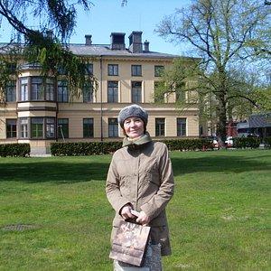 Прогулка в парке после осмотра иузея Синебрюхова
