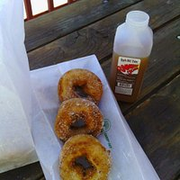 Fall at Rainbow Orchards. A dozen donuts, still piping hot!