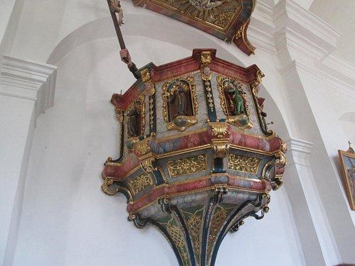 The pulpit at Tarasp Church
