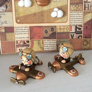 Piccoli aerei con l'aviatore Oliver (ceramica)