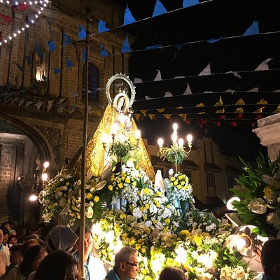 Taken before the procession on the feast of the Virgin of the Most Holy Rosary.