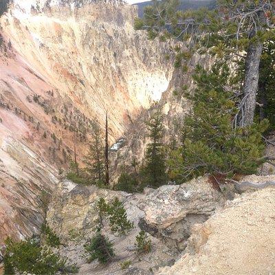Yellowstone Grand Canyon and mt Washburn