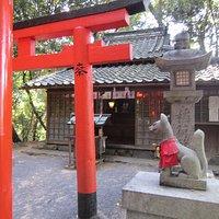 いい名前の稲荷神社です。思わず参拝しました。