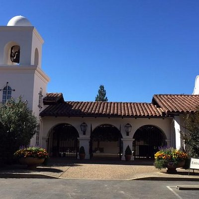 The entrance to Michel Schlumberger Winery.