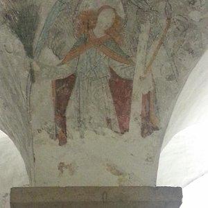 Affresco dell'Angelo nella cripta