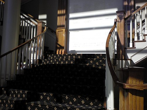 love these stairs but they also have an elevator