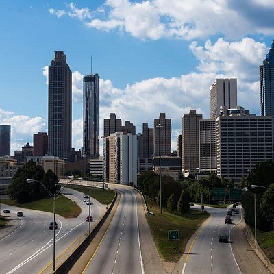 view of Atlanta Skyline from the Jackson Street Bridge