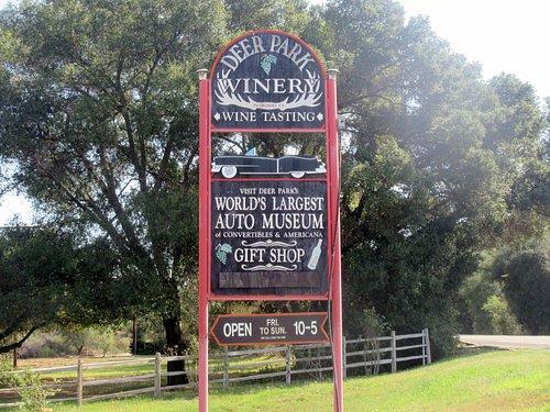 Deer Park Winery & Auto Museum, Escondido, Ca