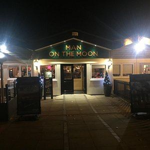 The front entrance of The Man on the Moon Pub