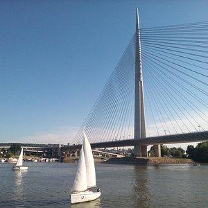 Sailing at river Sava