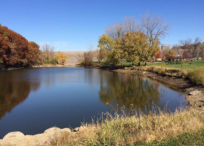 The lake downstream