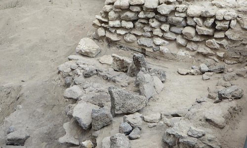 some of the excavated stones