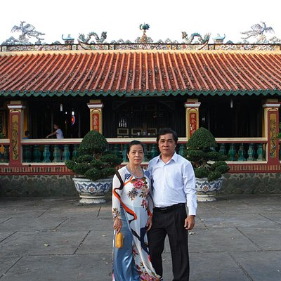 Infront of Hoi Khanh Pagoda