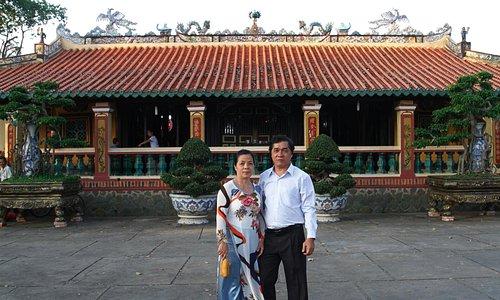 Infront of Hoi Khanh Pagoda