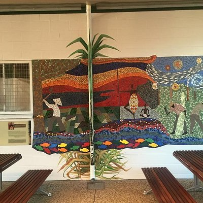 One sample of this very impressive mosaic-celebrating the history of the sugar industry in the a