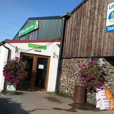 The entrance to the Farm Shop and restaurant