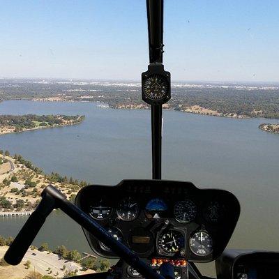 Flying over Whiterock lake Dallas