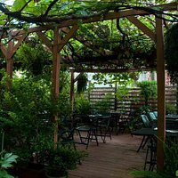 Outdoor dining garden