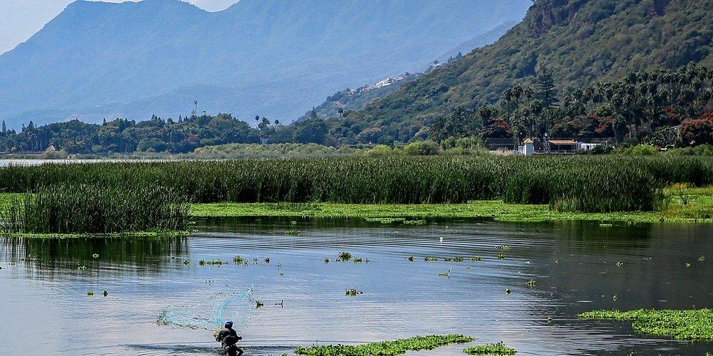 Lake Chapala - father and son fishing