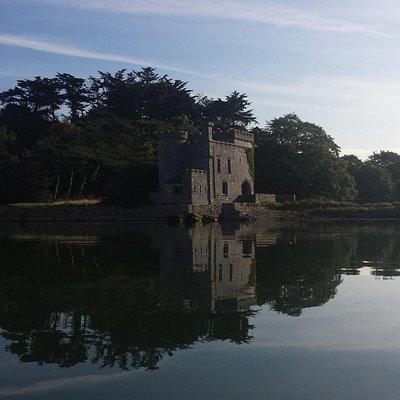 Radford Castle between Hooe Lake and Radford Lake