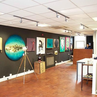 Upstairs in the gallery