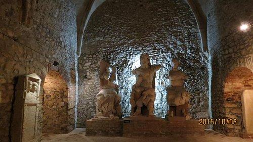 ローマ遺跡展示室