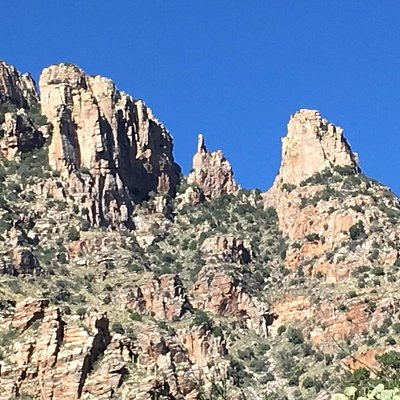 Finger Rock seen from the trail about ¾ of the way up