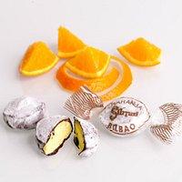 trufas rellenas de sabor naranja